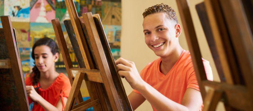 Art Students enjoying their creativity
