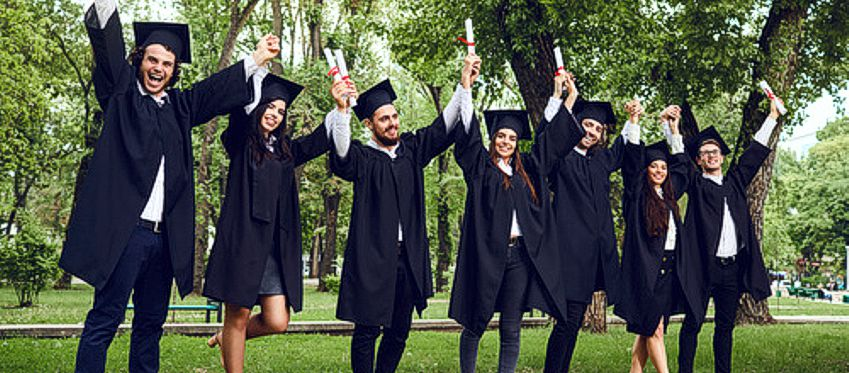 Students overjoyed on their graduation day